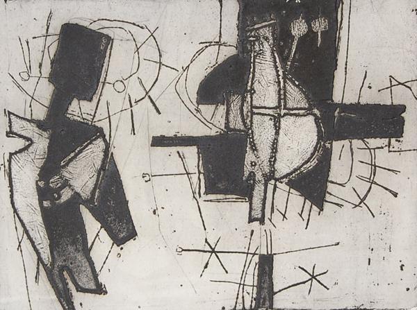 Cees Kortlang, z.t., 1965, 25,5 x 32,5 cm, ets