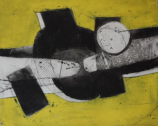 Cees Kortlang, z.t., 1971, 39,5 x 48,5 cm, ets