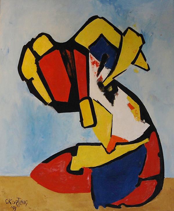Cees Kortlang, z.t., 1993, 120 x 100 cm, olie op doek