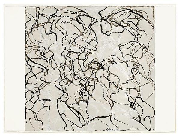 Nevis Letter #2 - 57x77cm Kremer inkt op Lanaquarelle papier