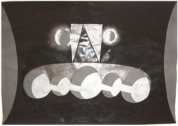 Papercut drawing - 100x70cm (materiaal onbekend)