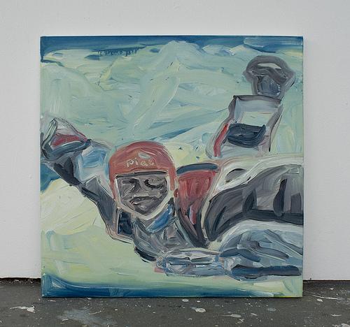 Piet - 60x60cm Olieverf op canvas