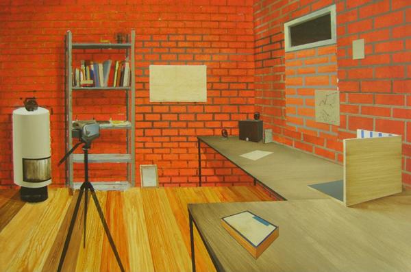 Studio - 80x120cm Acrylverf en grafiet op paneel