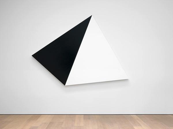 Weiss Schwarz 11 - 248x340cm Acryl op aluminium