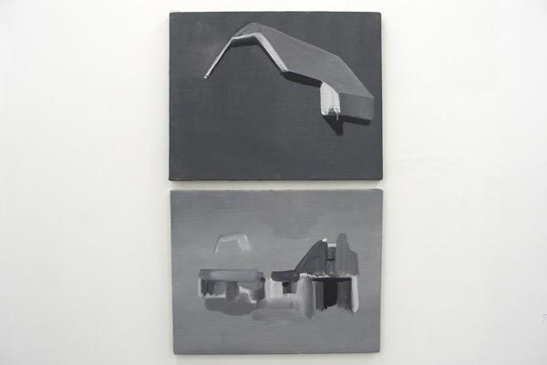 Har van der Put - Zonder Titel (2-luik) - Acrylverf en pigment op doek