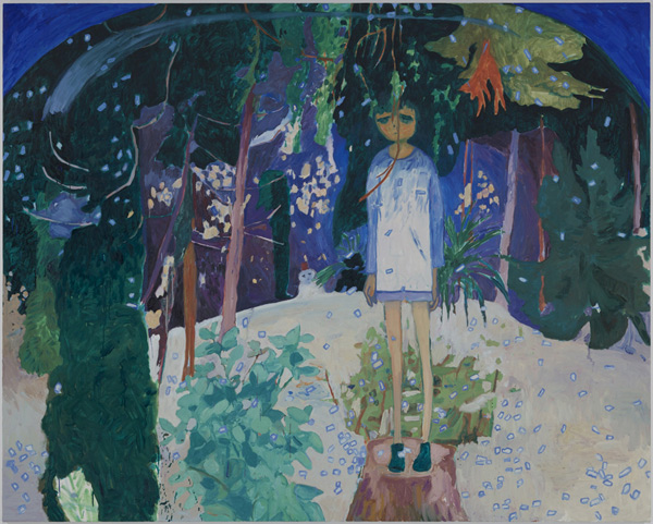 Snow Dome - 72x90inch Olieverf op canvas