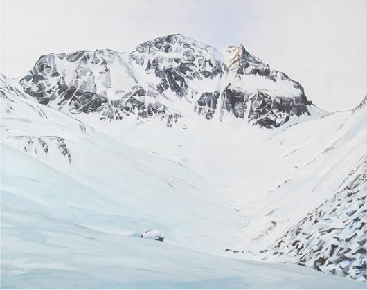 Die Pointe - 134x169cm Olieverf op canvas