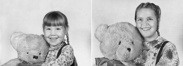 Fiona in 1978 en 2010