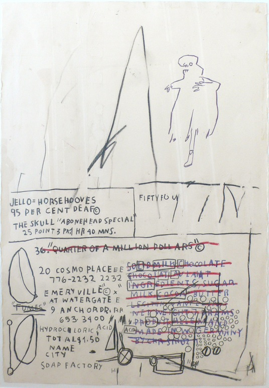 Jello Horsehooves - 77x57cm Mixed media op papier