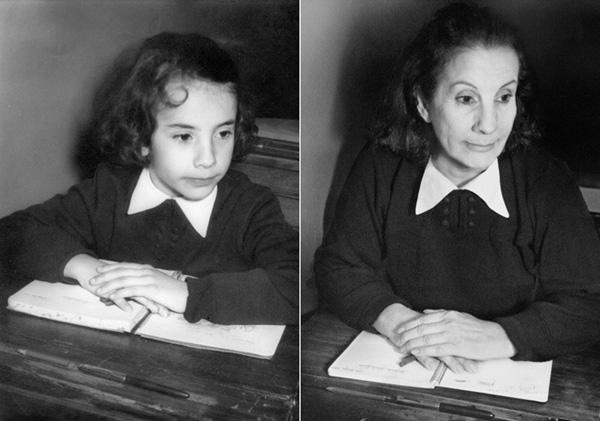 Lucia in 1956 en 2010