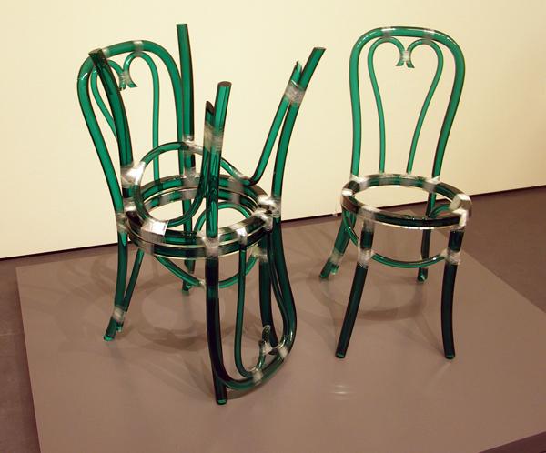 Rita McBride - Three Green Glass Chairs