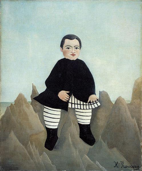 Boy on the Rocks - Olieverf op canvas