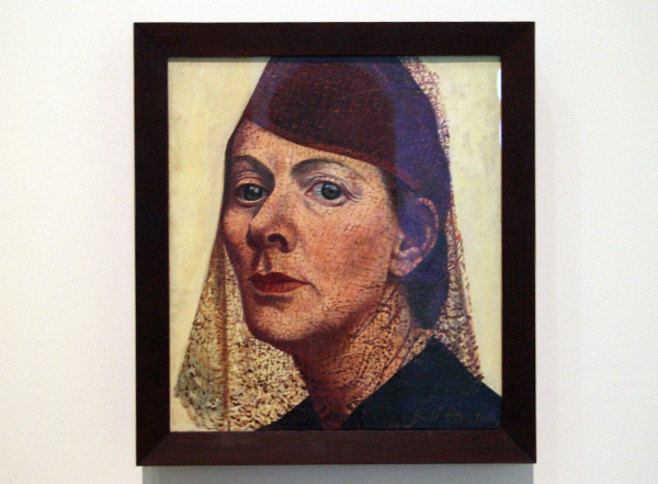 Charley Toorop - Zelfportret met hoed en voile