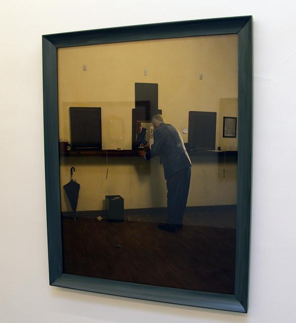 Untitled - 156x124cm Olieverf op zilverprint