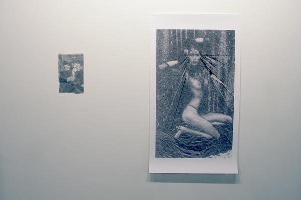 Untitled - 28x18cm Rijstpapier en papier & Untitled - 110x62cm Print