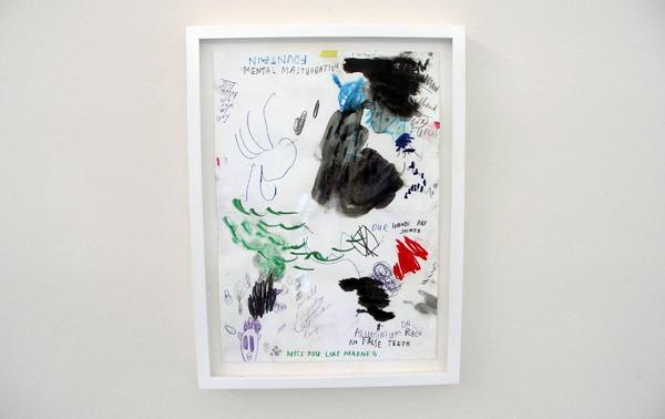 Untitled (Fountain) - 30x21cm Acrylverf, inkt, pen en potlood op papier
