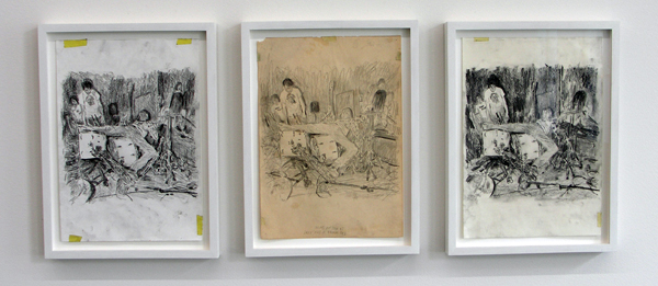 Untitled (Nirvana) #32, #36, #37 - 30x21cm Potlood op papier