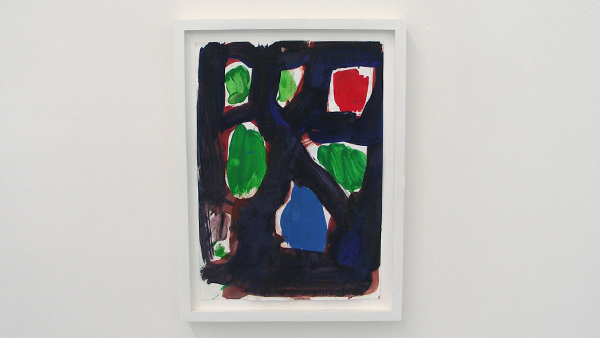 Untitled (Tags; Red, Green, Blue, Ellsworth Kelly, Dreaners we should be asleep in bed) - 31x21cm Acrylverf en gouache op papier