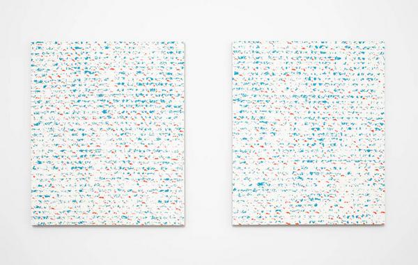 Cheney Thompson - Chromachrome 8 (5BG 5R) - 61x51cm Olieverf op canvas