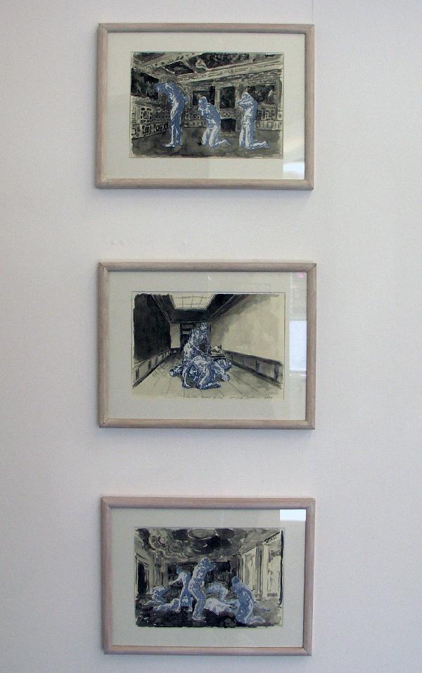 Stijn Peeters - Zonder titel 24x30cm Acryl en aquarel op papier