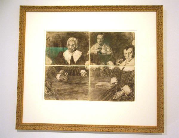 Kopie naar Frans Hals: De Regenten van het Oudemannenhuis in Haarlem