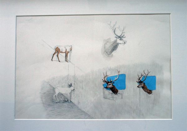 Ruben Bellinkx - 1 van de 6 tekeningen - Potlood, inkt en waterverf op papier