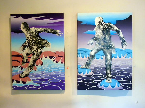 Janne Nytorp - Crossing 1 en 2 - Olieverf op canvas
