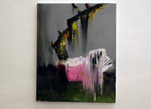 Line Gulsett - Oplossing - 50x60cm Olieverf en acrylverf op canvas