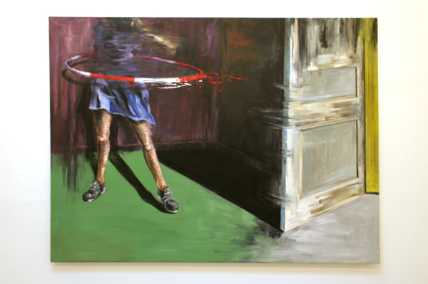 Line Gulsett - Something Borrowed Something Blue - 200x150cm Olieverf op canvas