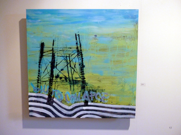 Ville Raty - Collapse - Acrylverf op MDF