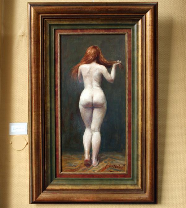 Cornelis le Mair - Naaktstudie rug
