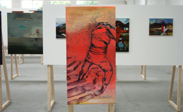Hugo Tieleman - Chandelier - Spieraam met canvas