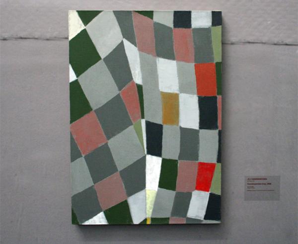 JCJ VANDERHEYDEN - Counterpointed Grey - Acrylverf op doek