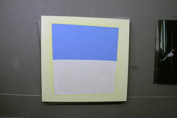 JCJ VANDERHEYDEN - Horizon in geel kader - Cosseine op doek