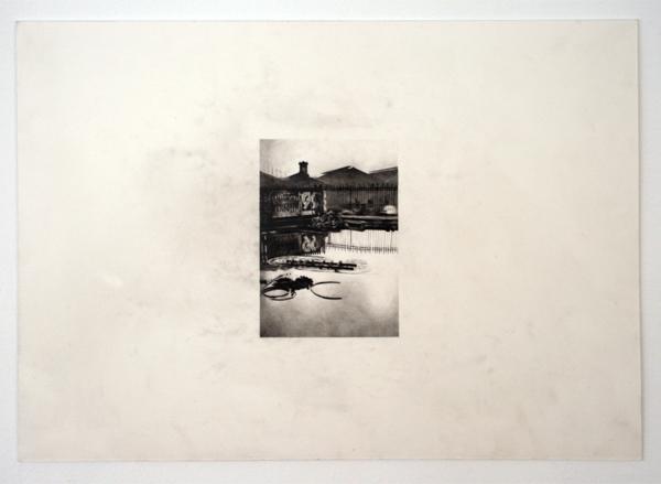 Andreas Albrectsen - Place de l'Europe- 50x70cm Graftiet op papier