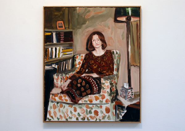 Anna Bjerger - Woman with light - 90x75cm Olieverf op aluminium paneel