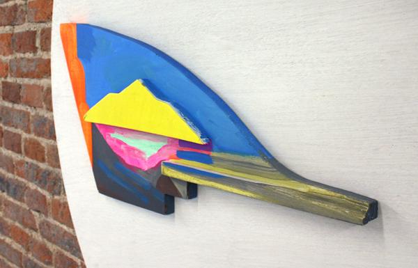 Jacqueline van den Bos - Op weg - Acrylverf op hout (detail)