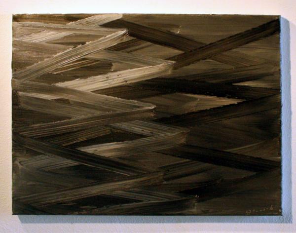 Lon Godin - Zonder Titel - 40x30cm Olieverf op linnen