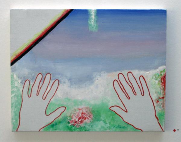 Roger Raveel - Een landschap aanvoelen - 41x51cm Olieverf op doek