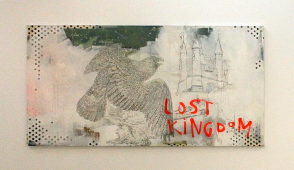 Stief Desmet - Lost Kingdom - 200x100cm Arcylverf spuitbus en potlood op canvas