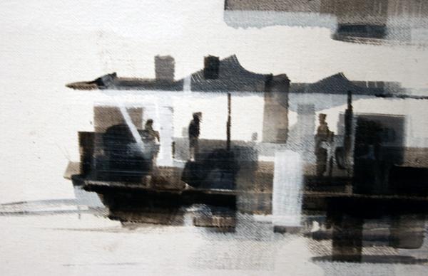 Wessel Huisman - Halfway March 1962 around 1700hours - 120x160cm Acrylverf op linnen (detail)