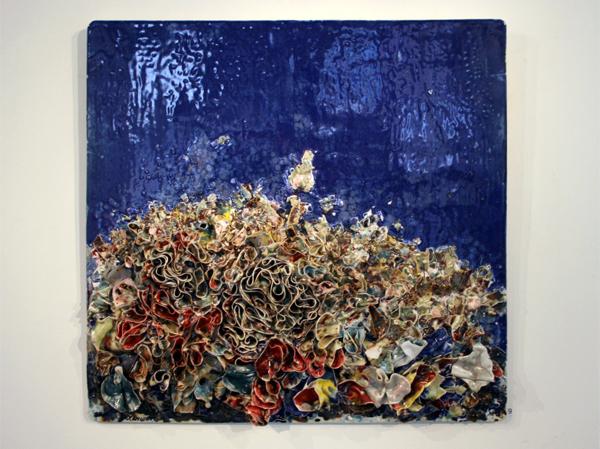 Zhuang Hong Yi - Zonder Titel - 80x80cm Porselein met pigmenten
