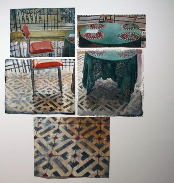 Arjan van Helmond (1971) - Interior #31 - Inkt, gouache en acrylverf op papier