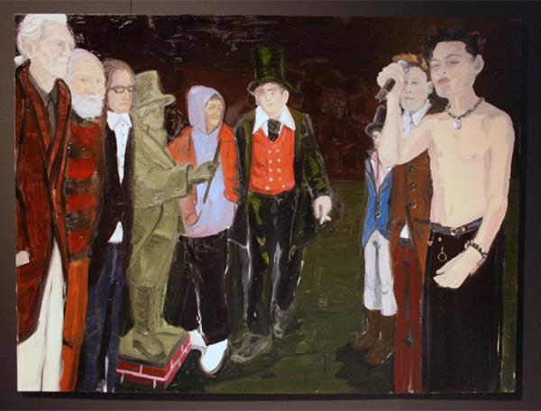 Jan Wattjes - Artistic Family (Sebastian Horsley, The Phoney) - 165x220cm Olieverf op doek
