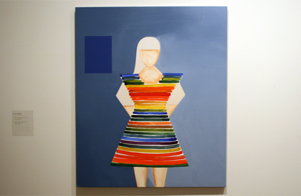 Malin Persson (1978) - The dress from nature and the male - Acrylverf en krijt op doek