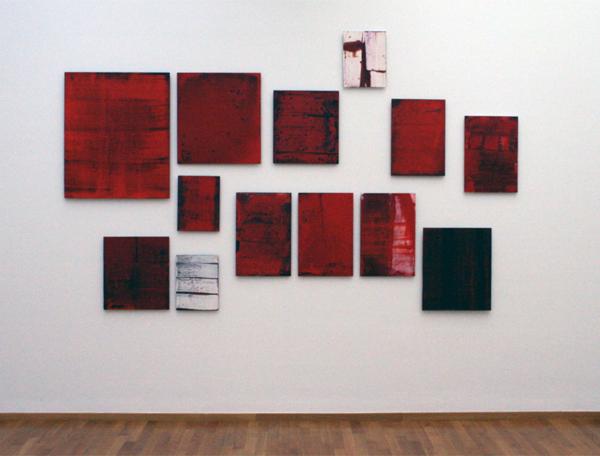 Marthe Wéry - Monochromen zonder titel - Acrylverf op aluminium