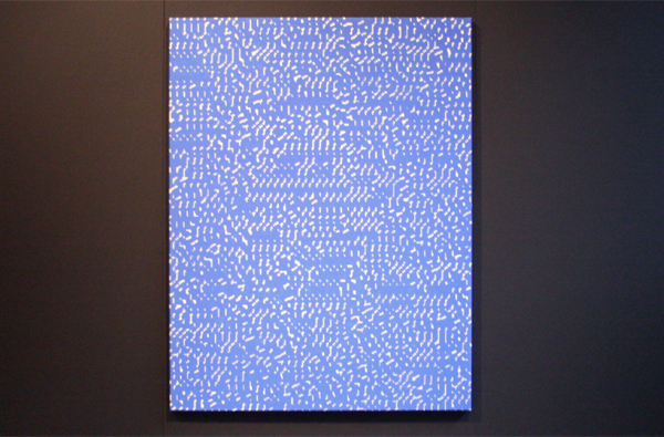 Navid Nuur - The Study 9 (The Eye Codex Of The Monochrome) - 150x115cm Chromakey verf en grondlak op doek