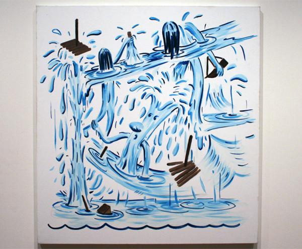 Pim Blokker (1974) - Sink to the Bottom - Olieverf op doek