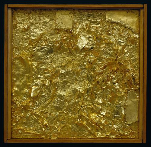 Robert Rauschenberg - Gold Painting