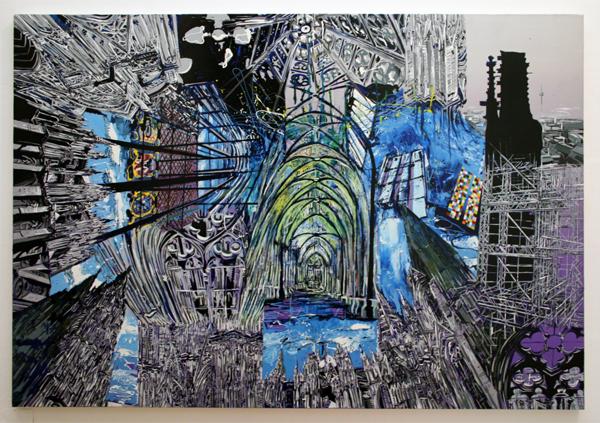 Yujin Kang - DOM-Koln - 112x162cm Acrylverf en enamel op canvas